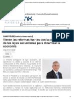 06-04-14 Vienen las reformas fuertes con la promulgación de las leyes secundarias para dinamizar la economía