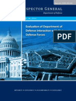 Inspector General Evaluation of Department of Defense Interaction with State Defense Forces (DODIG-2014-065 SDF)