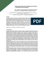 Efectividad Biológica de Extractos Polifenólicos Contra Bacterias Fitopatógenas