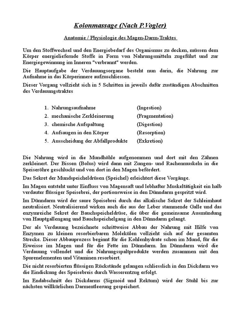 Nett Anatomie Und Physiologie Des Magen Darm Systems Zeitgenössisch ...