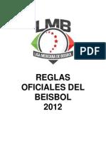 Reglas Oficiales de Beisbol 2012