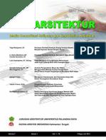 Jurnal Perspektif Arsitektur Vol. 7 No. 1 ISSN 1907-8536