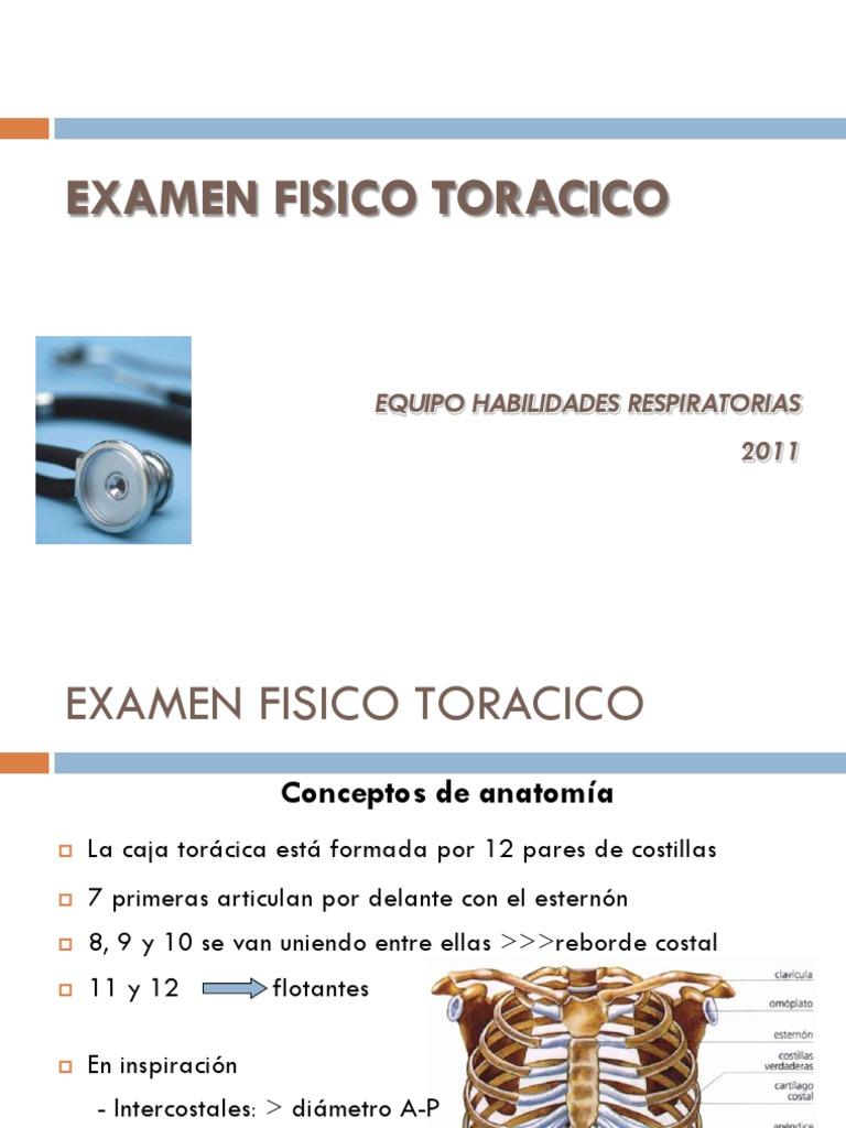 1.3 Examen Fisico Del Torax