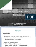 Mysqlha_metodos de Alta Disponibilidad