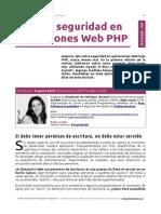 Guía de Seguridad en Aplicaciones Web PHP
