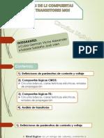 EQUIVALENCIAS DE LS COMPUERTAS BASICAS POR TRANSISTORES MOS - G4.pptx
