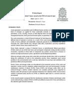 Written Report 1 Manuel Cano