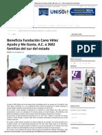 Beneficia Fundación Cano Vélez Ayudo y Me Gusta, A.C