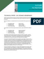 Technical Paper SiC Ceramic Membranes