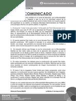 Comunicado Emape Sobre Proyecto Costa Verde - San Isidro