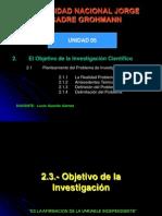 St-09 Unidad 05 Objetivo de La Investigacion