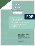 S1-2. Passeggi. Narrativa experiencia y reflexividad autobiográfica. Por una epistemología del sur en educación.