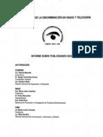 Observatorio de la Discriminación en Radio y Televisión, Informe sobre publicidades sexistas