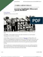 Farm Aid Concert to Highlight Missouri Independent Pork Farmers
