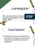 TIPOS DE PESQUISA