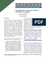 Phoenix Center Perspectives Whoops! Berkman Study Shows Open Access Reduces Broadband Consumption