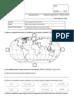 Evaluación 2. Mapas y Puntos Cardinales