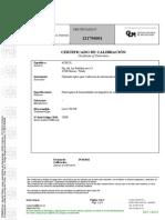 Certificado Calibracion Topografía 2012 Prod 45844