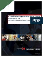 Capacitación en Comunicación de Riesgos Manual Del Estudiante