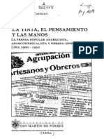 Machuca Castillo - La Tinta, El Pensamiento y Las Manos. La Prensa Popular Anarquista, Anarcosindicalista y Obrera-sindical en Lima 1900-1930 (Indice)