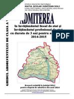 Brosura Admitere Liceu Dolj 2014-2015