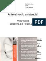 Ante El Vacío Existencial. v Frankl