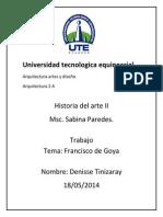Universidad Tecnologica Equinoccial Francisco de Goya