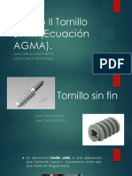 Diseño Mecanico en Ingeniería Mecánica, Tornillo sinfín