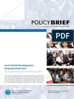 Local Youth Development and Empowerment Act (Pending bill in Congress)