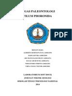 PALEONTOLOGI TUGAS PHORONIDA