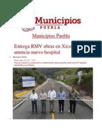20-05-2014 Municipios Puebla - Entrega RMV obras en Xicotepec y anuncia nuevo hospital.