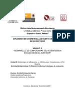 Evaluación Integral de Competencias en Ambientes Virtuales de Aprendizaje