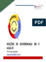 Aula 01 - Nocoes de Governanca de TI