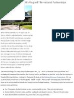 Buffett Partnership Details
