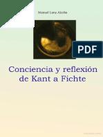 Conciencia y Reflexión de Kant a Fichte- Manuel Luna Alcoba.