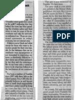 Gazzette Letter From Klowan Nov 2009