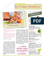 Miss Vitality Newsletter * May 2014
