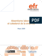 LIBRIO EOI AbsentismoLaboralColesterolEmpresa Mayo 2009