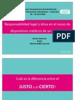 Responsabilidad Legal y Etica en El Reuso de Dispositivos Medicos de Un Solo Uso Denise Demarzo