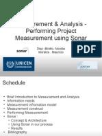 Measurement & Analysis - Performing Project Measurement using Sonar