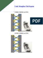 Cara Mengikat Sepatu