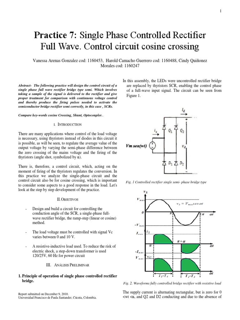 Rectificador Controlado Traducido Rectifier Diode Full Wave Diagram