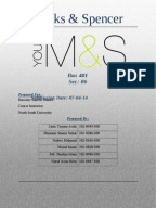 an analysis of marks and spencer's Background ratio analysis financial highlights financial analysis of marks and spencer plc scott campbell, toby griffiths, ashleigh oakes, muhammad mohamad sani and ryan saunders.