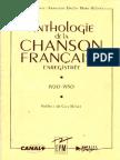 Anthologie de La Chanson Francaise
