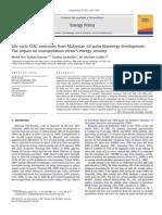 Life CycleGHG Emissions From Malaysian Oilpalm Bioenergy Development