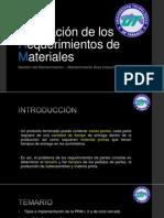 Planeación de Los Requerimientos de Materiales PRM