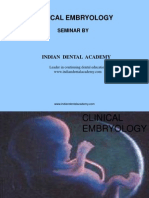 Clinical Embryology / orthodontic courses by Indian dental academy