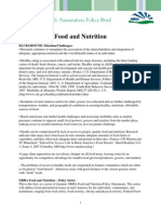 Food and Nut Riton Policy Paper