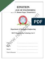 Me2207 Lab Manual