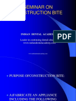 Construction Bite / orthodontic courses by Indian dental academy